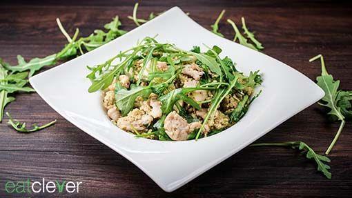Hähnchen Couscous Salat - Fettarm und trotzdem reich an Ballaststoffen und Vitaminen.