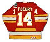 Flames Theoren Fleury Authentic Jersey