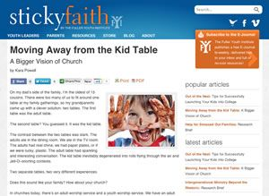 Sticky Faith Every Day - Free 8 Week Curriculum. Lent 2013? Practical resources for parents and youth leaders to nurture long-term faith in teenagers.