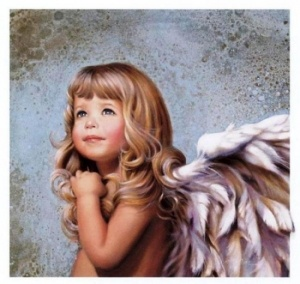 baby girl angelAngels Art, Little Girls, Nancy Noel, Precious Children, Acrylics Painting, Painting By Numbers, Angels Wings, Art Pictures, Oil Painting