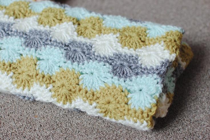 Catherine's wheel baby blanket