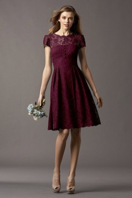 Watters Maids Dress Ash Style 4257 | Watters.comwine & dark cranberry