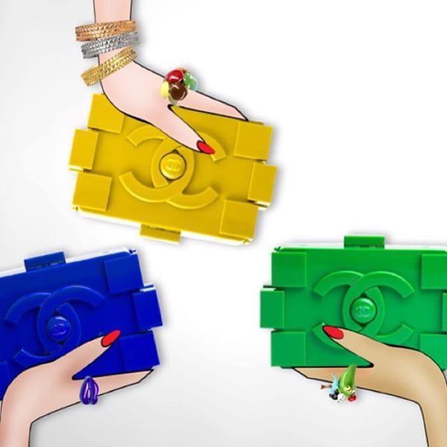 #Клатч #Lego #Chanel ,цвета : синий,белый,красный,зеленый,черный,желтый ❤️цена 3500 ✨#followme #шоппинг #клатчшанель #follow #питер #спб