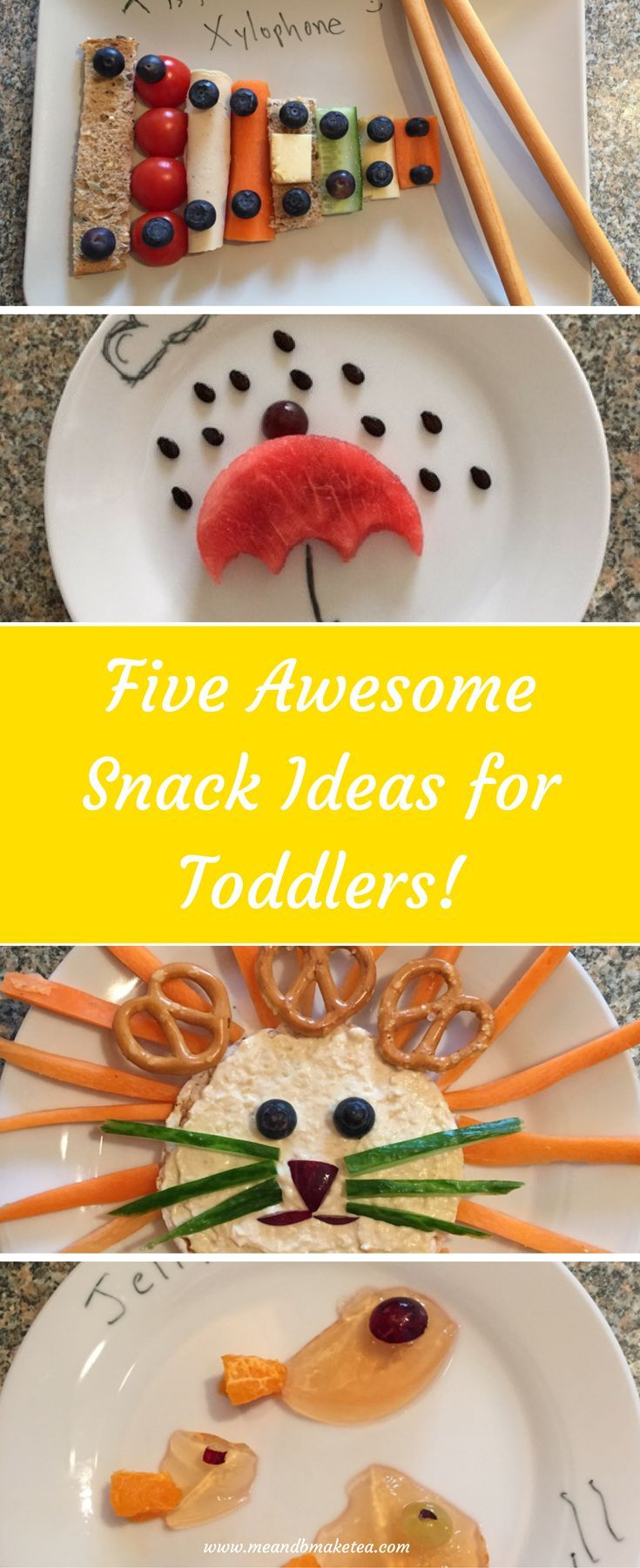 5 awesome snacks for toddlers that are easy to make and delicious for little ones!     Today we round-up five super fun snacks which are some of my favourites. They are easy to prep and easy to makeand even though they involve lions and koala bears, I promise you, they don't take too long. And even better, they may just be the thing to entice picky little eaters  Wouldn't that be fab hey?!  #bento #snack #kids