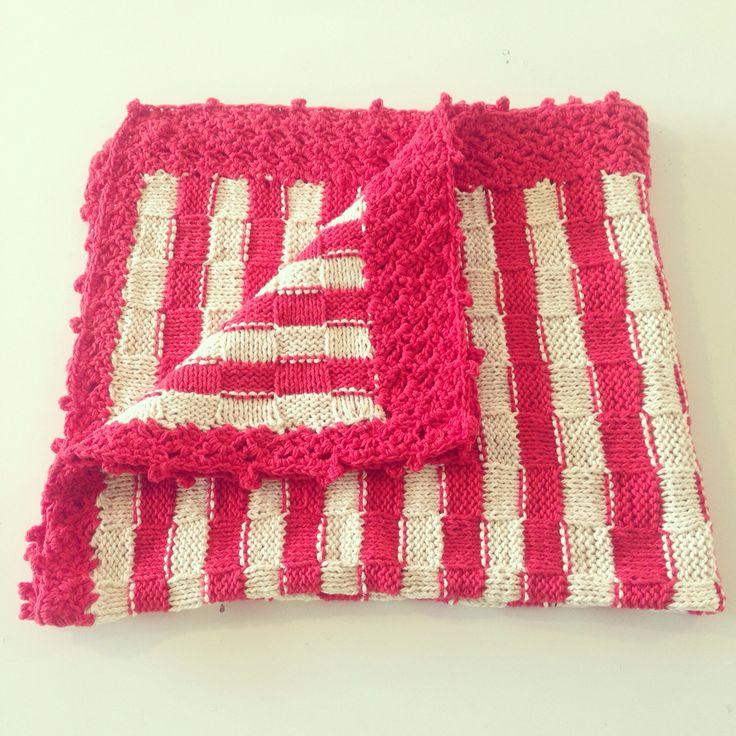 Manta tejida a mano algodón www.ilovelou.cl