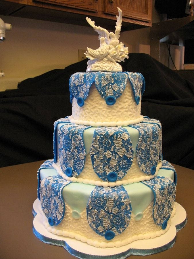 Wedding Cake Brocade Elegance  www.tablescapesbydesign.com https://www.facebook.com/pages/Tablescapes-By-Design/129811416695