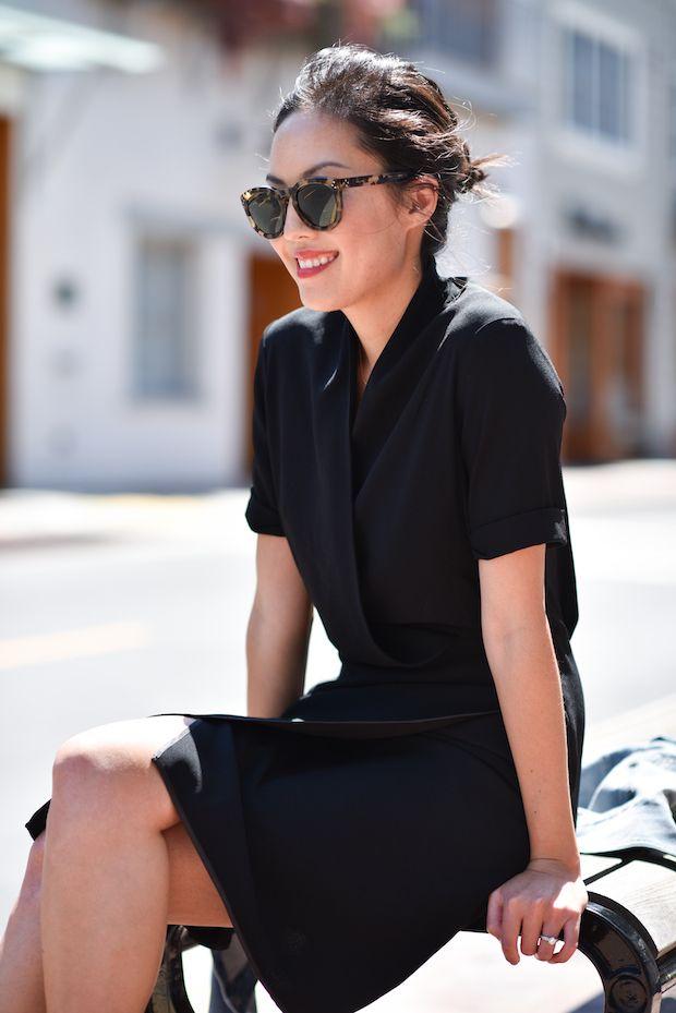 Style a simple black dress