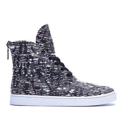SUPRA WOMENS JOPLIN | BLACK / PATTERN - WHITE | Official SUPRA Footwear Site I am actually in love with Supra Joplins. Every single one.