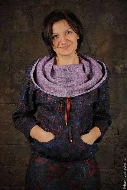 Купить или заказать Звездная пыль в интернет-магазине на Ярмарке Мастеров. Невероятно мягкий и комфортный свитер с капюшоном из ультратонкого мериносового кардочеса и разноцветной вискозы: www.livemaster.ru/eco-hobby .