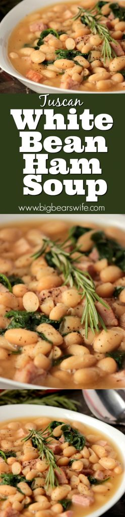 Tuscan White Bean Soup with Ham