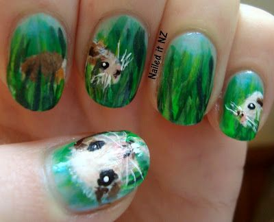 Nailed It NZ: Guinea pig nail art
