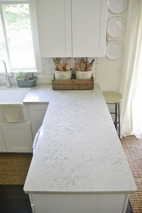Quartz Countertop Review - Pros & Cons -Helix Silestone (Lagoon is supposed to be a good one as well)