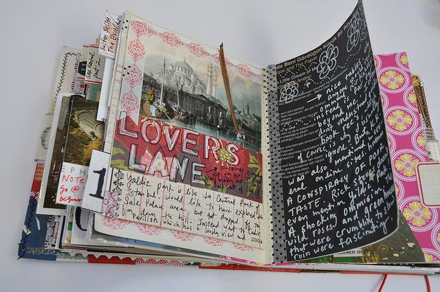Art journal. Smash book.