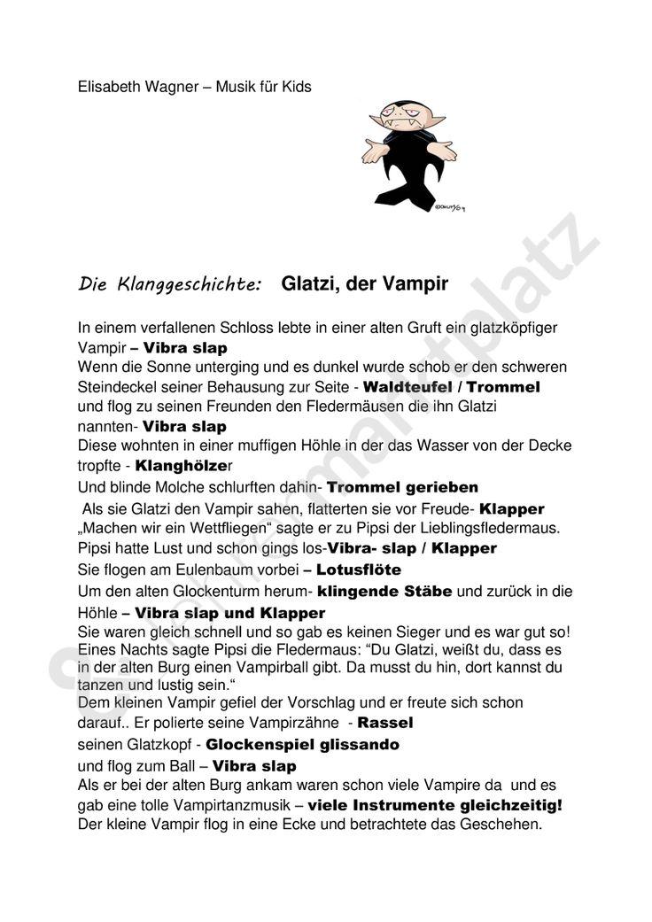 Geschichten mit Musik:  Glatzi der Vampir! mit dazu passendem Lied