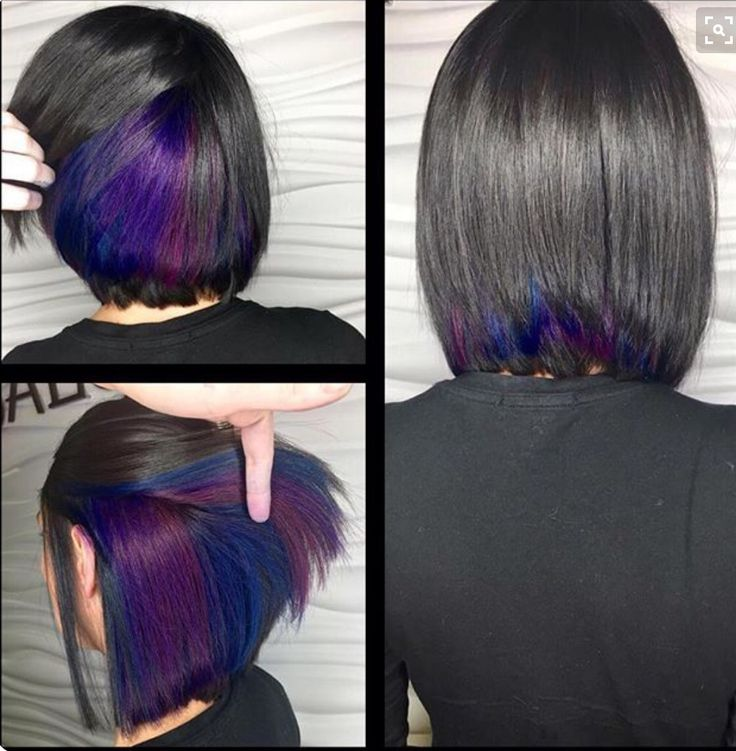 Just a pop of color is all you need. We  this unique style. #hidden #highlights #color  www.ihearthairinc.com