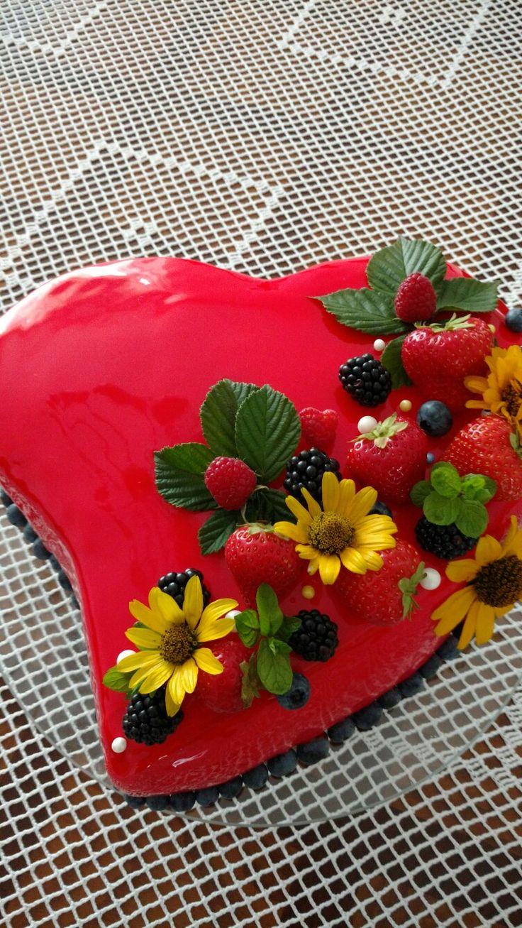 Tort z lustrzaną polewą, Słodka Sosnowa