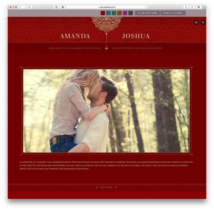 'Diya' wedding website theme at eWedding.com