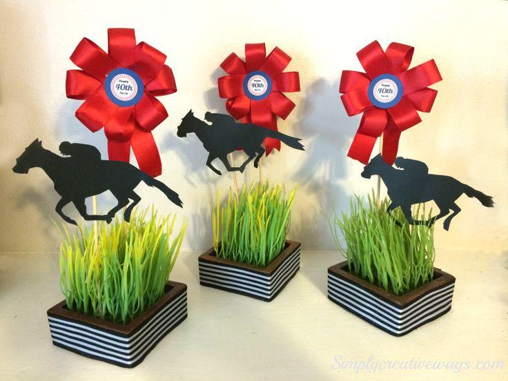 Horse Racing Centerpieces