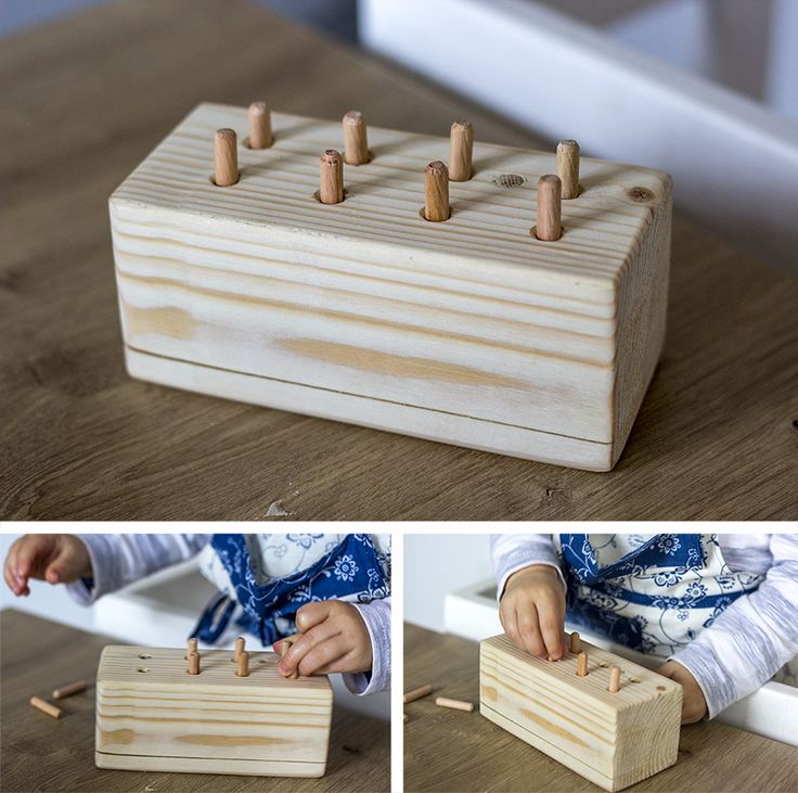 Wooden dowel toy, DIY Montessori toys/activities
