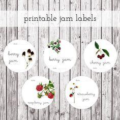 Fabulous, free Printable Jam Jar Labels!