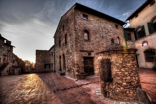 Tignano castle in Barberino Val d'Elsa area of Tuscany.