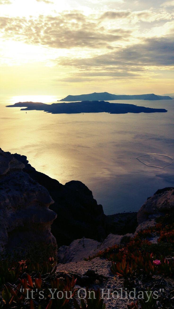 On the rim of Caldera-Santorini