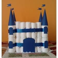 Como hacer un castillo con pañales para baby shower | Home Manualidades