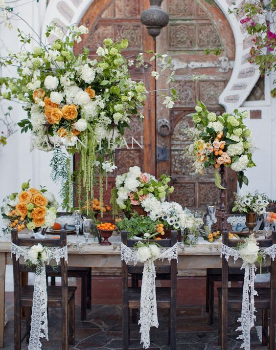 Wedding reception centerpiece idea; Featured Photographer: This Modern Romance