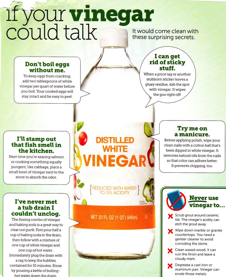 Many uses for vinegar from HGTV magazine