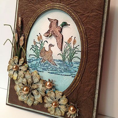 Mallard Duck: Creations Balmy, Creative Cards, Masculine Cards, Heartfelt Creations, Roses, Raindrops, Creations Favorites, Amazing Card