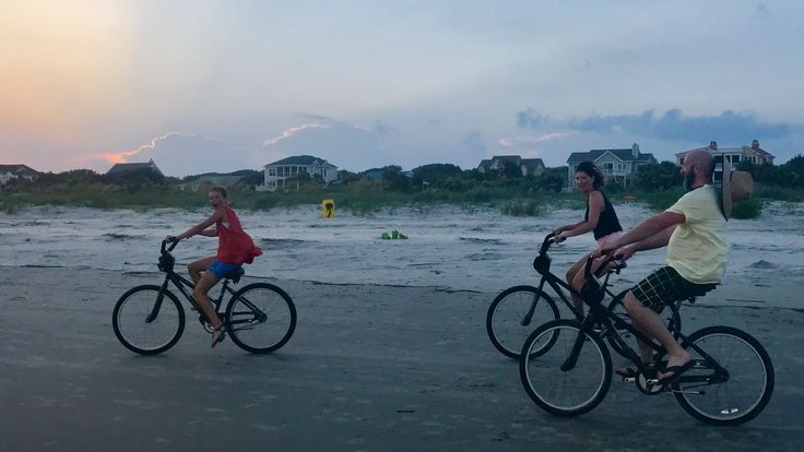 Partnership Specialist Cera finds #worklifebalance cruising with her family at sunset on the Isle of Palm Beach!