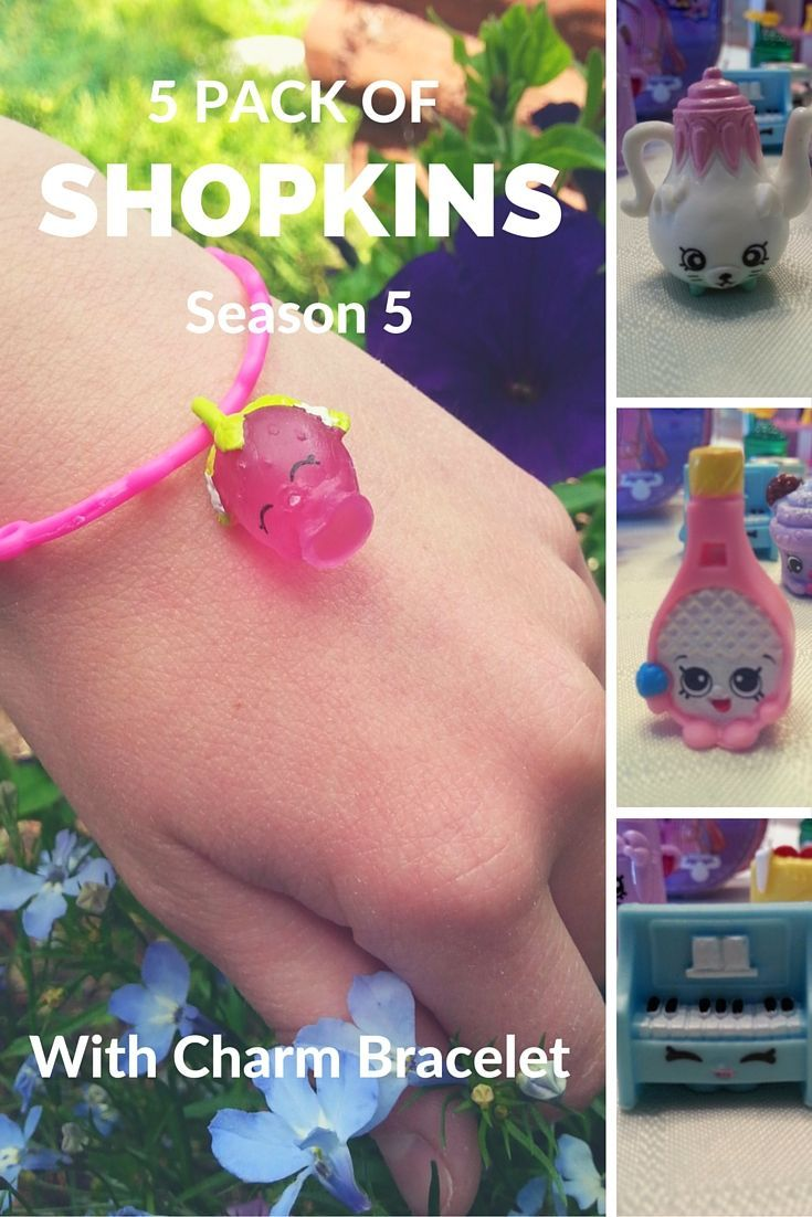 Check out this 5 Pack of #Shopkins Season 5 with a bonus Charm Bracelet!  So Cute! There are 36 charms to collect.  You also get a Petkins Backpack with a hidden Shopkins inside.