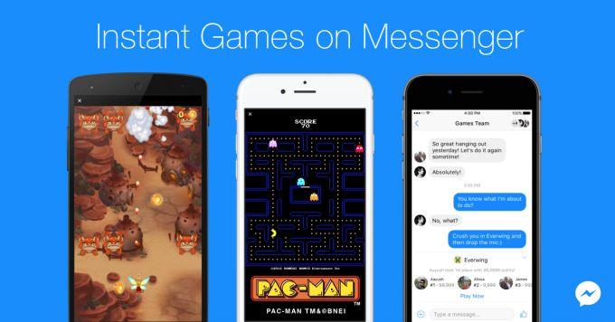 Facebook Messenger launches Instant Games mobile web platform