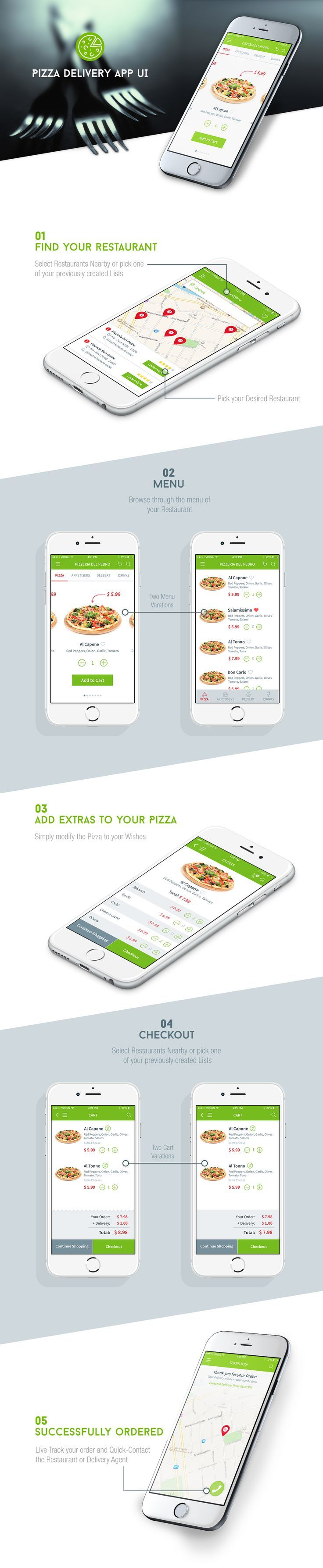 Pizza Delivery #app #ui #design: