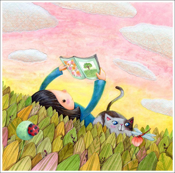 What a pleasure reader! / Qué placer lector! (ilustración de Min)