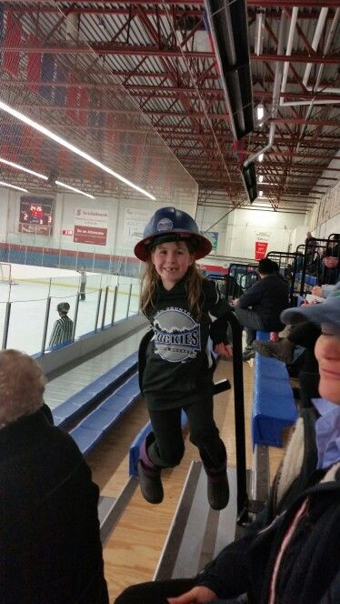 Here is my deer little sister she one the heart and hustle from hockey two times now she gets it from me Iv got it like 8 times now she's catching up.