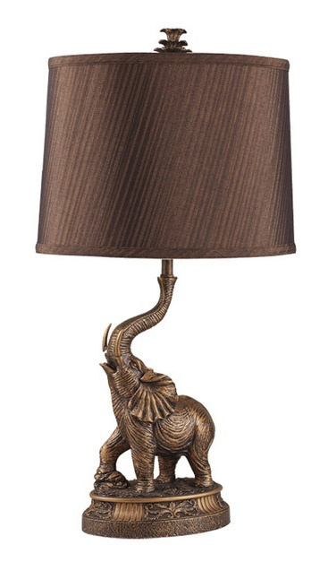 Must have elephant lamp for Alabama/media room