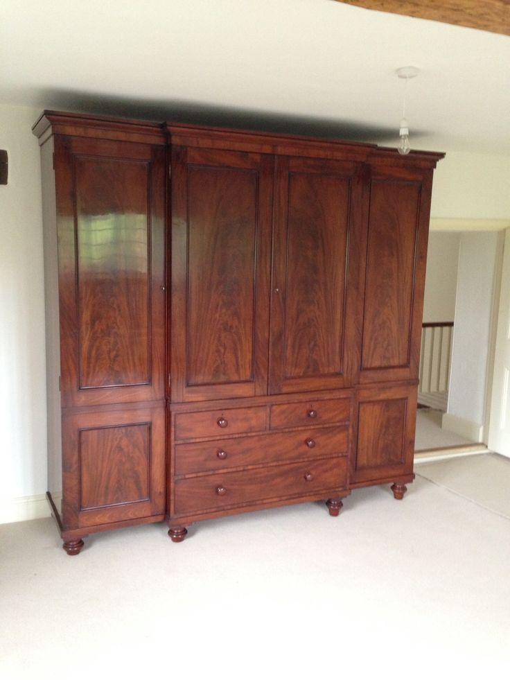 Georgian mahogany wardrobe.