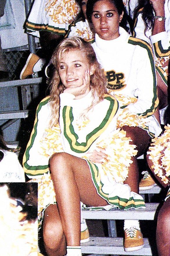 Cameron Diaz pictured in her high school cheerleading uniform.