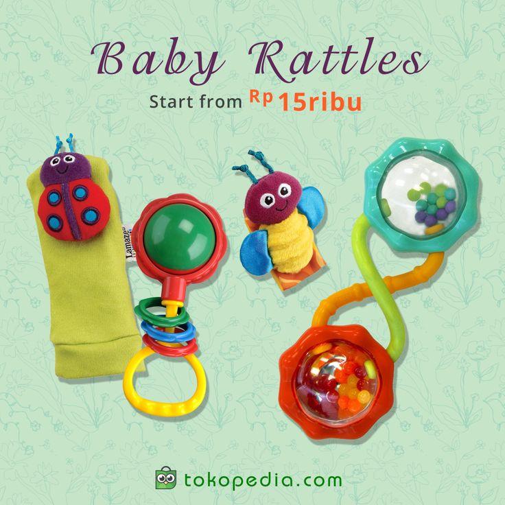Halo, ayah bunda. Yuk berikan Rattle Bayi untuk si buah hati. Selain menyenangkan, Rattle juga dapat melatih kekuatan dan ketangkasan otot tangannya, lho  Dapatkan berbagai bentuk Rattle Bayi di http://www.tokopedia.com/hot/rattle-bayi mulai dari Rp 15.000,- (harga bervariasi).