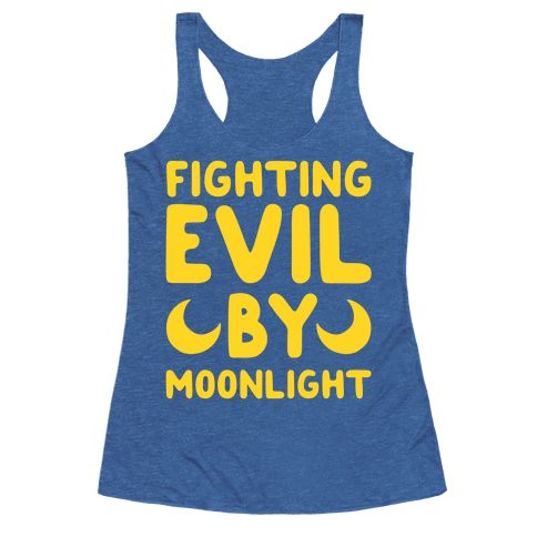 "Fighting Evil By Moonlight - This sailor moon shirt is perfect for best friends or an amazing couple who both love 90s anime like sailor moon and features the phrase ""fighting evil by moonlight"" on one shirt and ""winning love by daylight."" on the other. This anime shirt is great for fans of 90s shirts, nerd shirts, sailor moon merch and cute anime clothes."