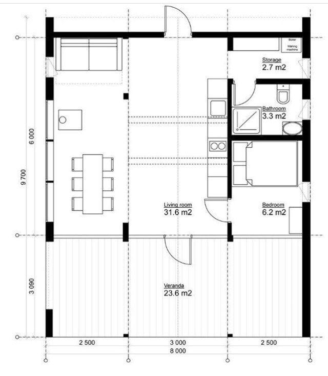 210 best Σπίτια images on Pinterest Small houses, Floor plans and