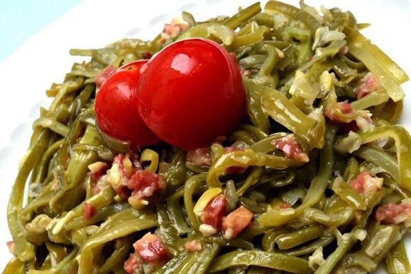 Con Cuchillo y Tenedor | Judías verdes con jamón - receta