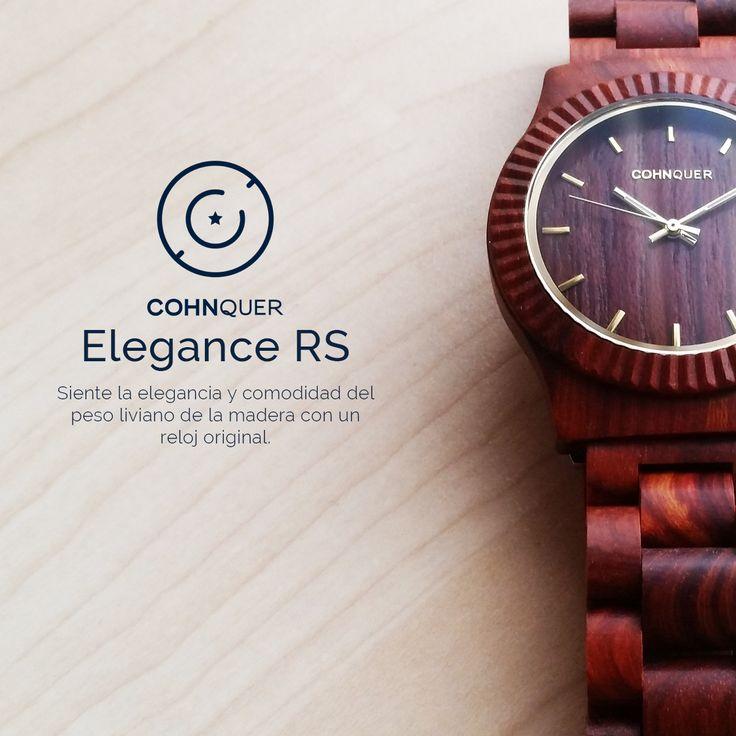 Reloj de Madera Cohnquer Elegance Red Sandal. siente la comodidad, elegancia y originalidad de este model. #Relojesmadera #modaunisex #moda #reloj