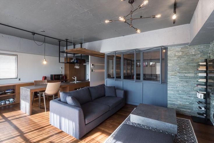 建築家:ショセット建築設計室「石張り壁のあるフルリノベーション:『品川区五反田のリノベーション』」