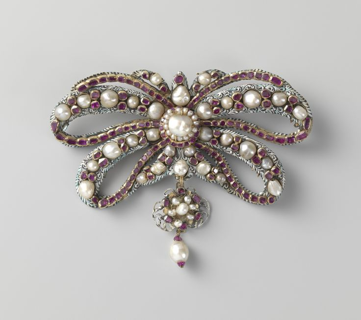 Bow brooch, Anonymous, c. 1650 - c. 1675