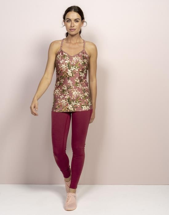 ESSENZA Nomi Verano Top Ärmellos Dusty Rose  | active wear | yoga | sport | leggings | mode | sportmode | ESSENZA | #essenzahome #essenza