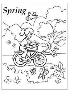 22 best spring theme coloring pages images on pinterest for Spring coloring pages for kindergarten