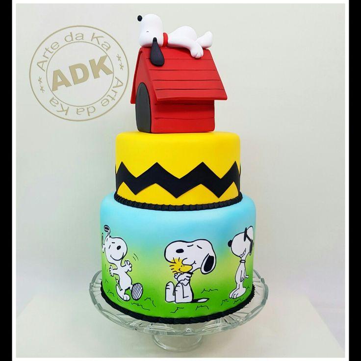 Snoopy cake - Bolo Snoopy