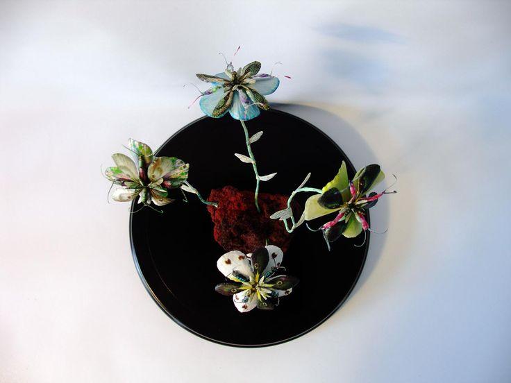 Erupting Flowers, DIA24 x H28 cm, in glassdome, 2016  by Iben Toft Nørgård